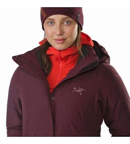 Andessa Jacket Women's Crimson Open Collar