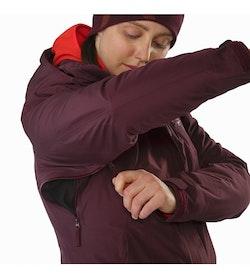 Andessa Jacket Women's Crimson Pit Zip