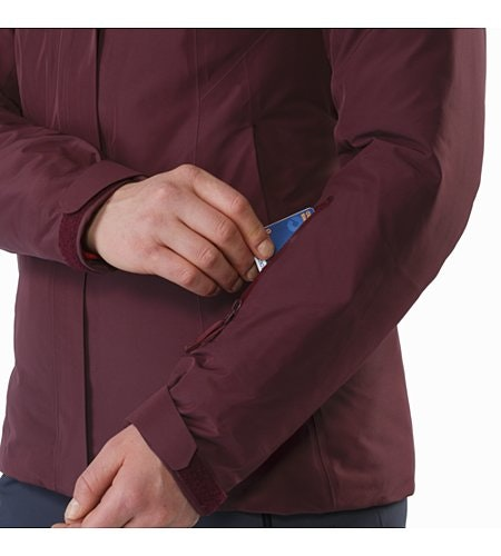 Andessa Jacket Women's Crimson Sleeve Pocket
