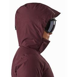 Andessa Jacket Women's Dark Inertia Helmet Compatible Hood