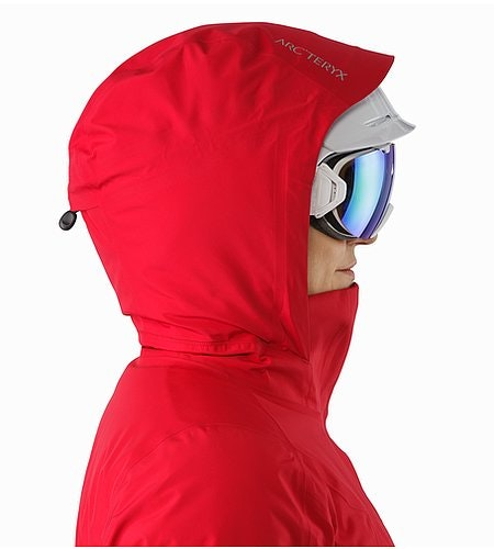 Andessa Jacket Women's Radicchio Helmet Compatible Hood Side View
