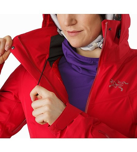 Andessa Jacket Women's Radicchio Hood Adjuster