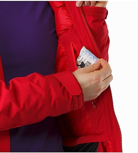 Andessa Jacket Women's Radicchio Internal Pocket