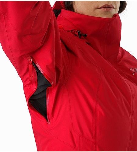 Andessa Jacket Women's Radicchio Pit Zip