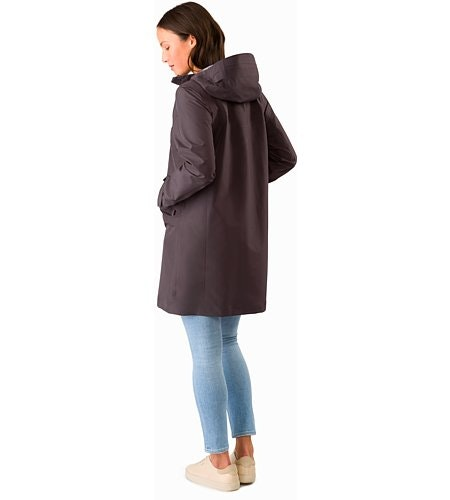 Andra Coat Women's Whiskey Jack Back View