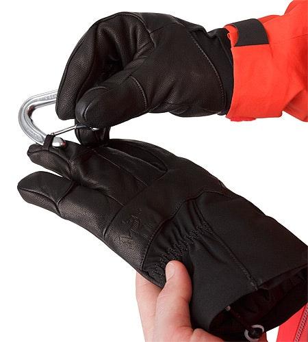 Anertia Glove Black Carabiner Loop