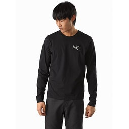 Arch'teryx T-Shirt LS Black II Front View