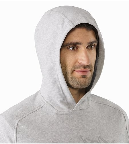 Archaeopteryx Pullover Hoody Light Grey Heather Hood Side View