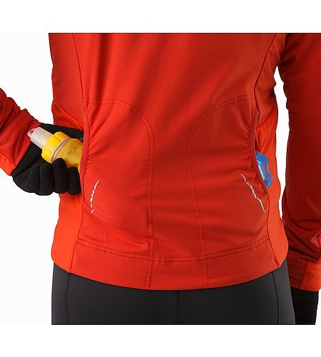 Argus Jacket Cardinal Rear Pockets