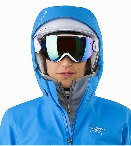 Astryl Jacket Women's Baja Helmet Compatible Hood Front View