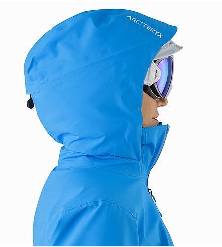 Astryl Jacket Women's Baja Helmet Compatible Hood Side View