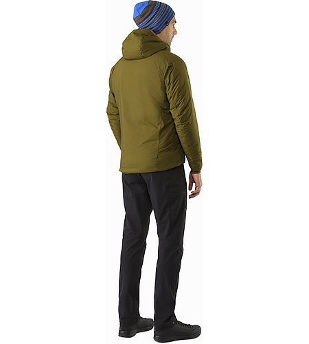 Atom AR Hoody Dark Moss Back View