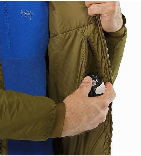 Atom AR Hoody Dark Moss Internal Pocket