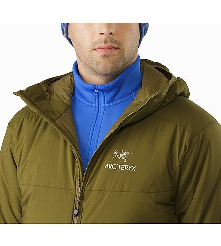 Atom AR Hoody Dark Moss Open Collar