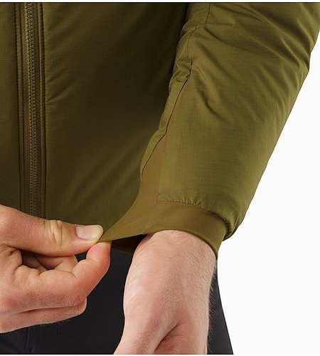 Atom AR Hoody Dark Moss Stretch Cuffs