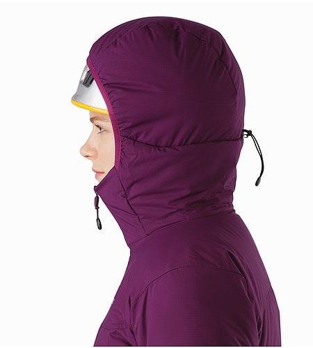 Atom AR Hoody Women's Mandala Helmet Compatible Hood Side View