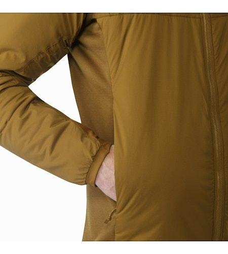 Atom LT连帽衣褐色插手口袋