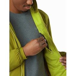 Chaqueta con capucha Atom LT Elytron: Bolsillo interior de seguridad