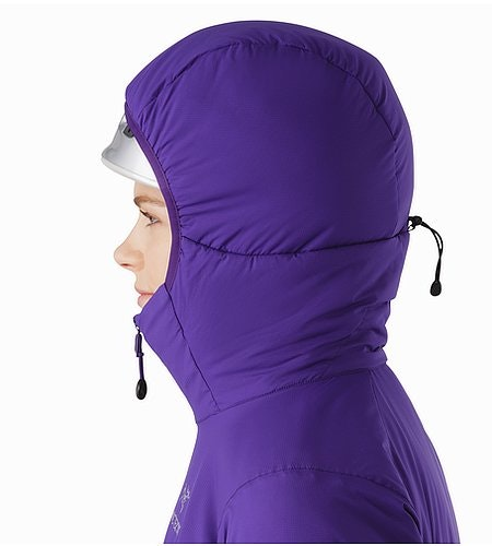 Atom LT Hoody Women's Azalea Helmet Compatible Hood Side View