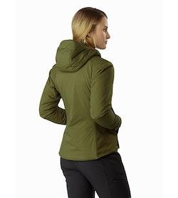 Chaqueta con capucha Atom LT para mujer Bushwhack: Vista posterior