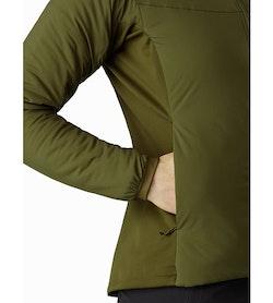 Chaqueta con capucha Atom LT para mujer Bushwhack: Bolsillo para las manos