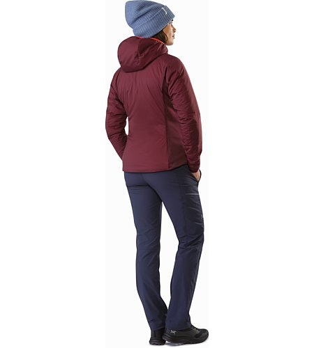 Atom LT Hoody Women's Crimson Back View