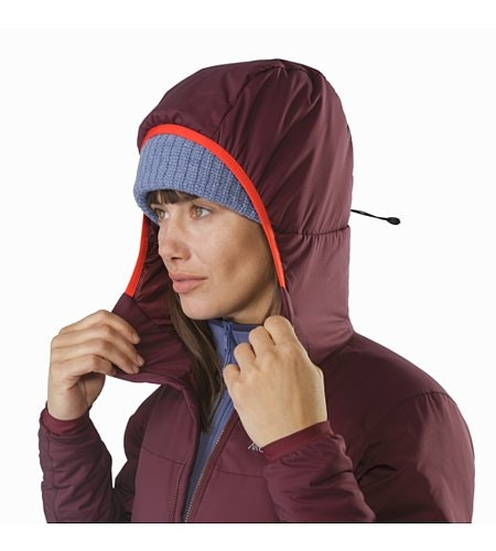 Atom LT Hoody Women's Crimson Hood Up