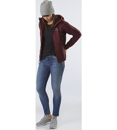 Atom LT Hoody Women's Crimson Open View