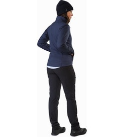 Atom LT Jacket Women's Black Sapphire Back View