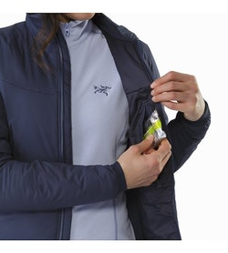 Atom LT Jacket Women's Black Sapphire Internal Security Pocket