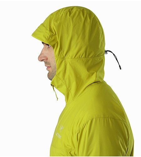 Atom SL Hoody Everglade Hood Side View