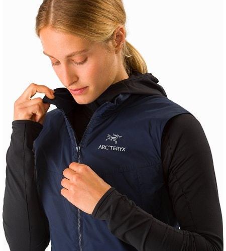 Atom SL Vest Women's Black Sapphire Collar