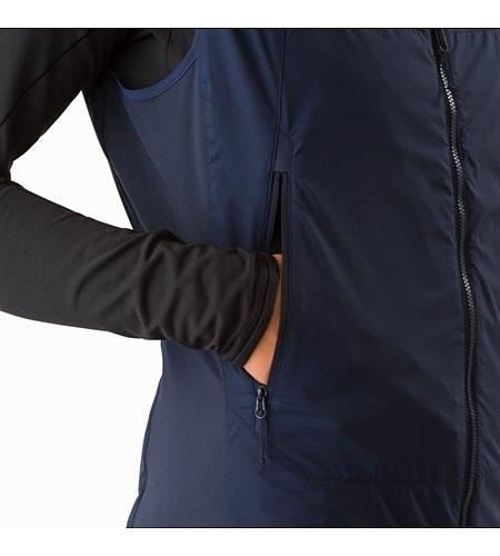Atom SL Vest Women's Black Sapphire Hand Pocket