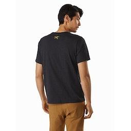 Backlit T-Shirt Black Heather Back View