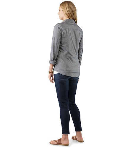 Ballard Shirt LS Women's Denim Back View