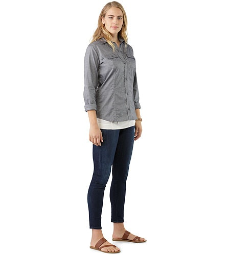 Ballard Shirt LS Women's Denim Front View