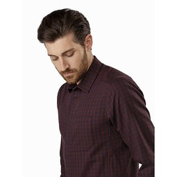 Bernal Shirt LS Black Baccara Collar