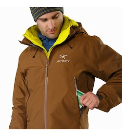 Beta AR Jacket Caribou Hand Pocket
