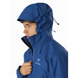 Beta AR Jacket Cobalt Sun Helmet Compatible Hood