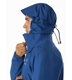 Beta AR Jacket Cobalt Sun Hood Side View