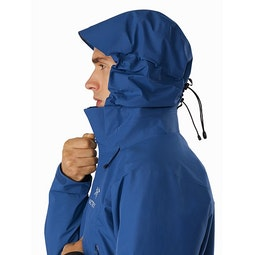 Beta AR Jacket Cobalt Sun Hood Side View