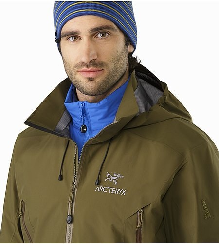 Beta AR Jacket Dark Moss Open Collar