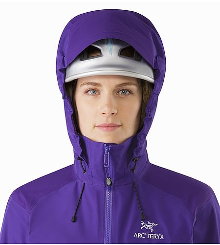 Beta AR Jacket Women's Azalea Helmet Compatible Hood Front View