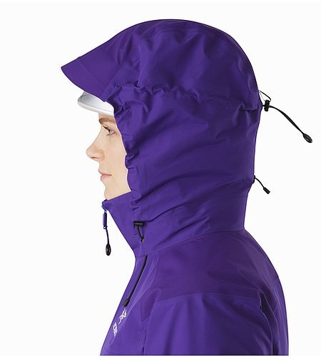 Beta AR Jacket Women's Azalea Helmet Compatible Hood Side View