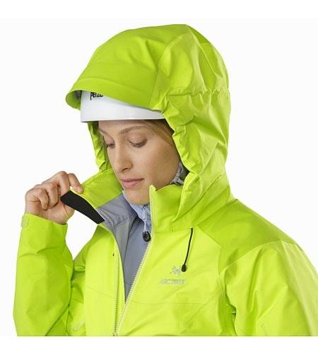 Manteau Beta AR Femme Titanite Capuchon compatible avec un casque