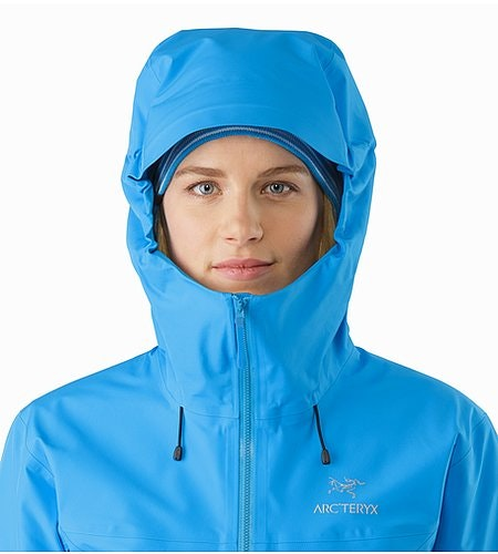 Beta LT Jacket Women's Baja Hood Front View 2