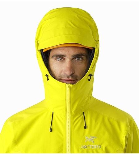 Beta SL Hybrid Jacket Lichen Helmet Compatible Hood Front View