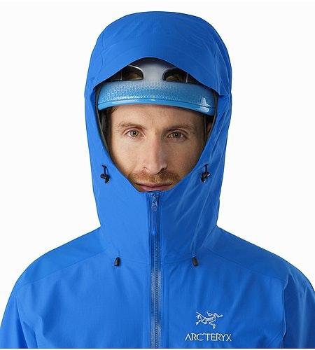 Beta SL Hybrid Jacket Rigel Helmet Compatible Hood Front View