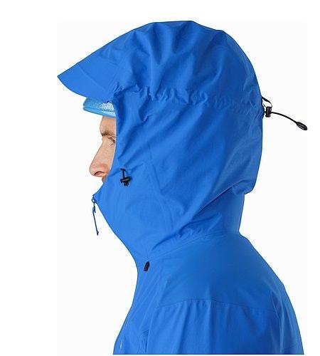 Beta SL Hybrid Jacket Rigel Helmet Compatible Hood Side View