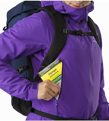 Beta SL Hybrid Jacket Women's Mauveine Hand Pocket